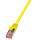 Patchkabel Cat.6 S/FTP, PIMF, PrimeLine, gelb, 0,25m