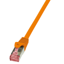 Patchkabel Cat.6 S/FTP, PIMF, PrimeLine, orange, 0,25m