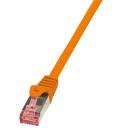 Patchkabel Cat.6 S/FTP, PIMF, PrimeLine, orange, 0,5m