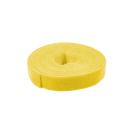 Kabelbinder aus Klettband, 4m, gelb