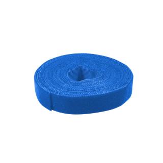 Kabelbinder aus Klettband, 4m, blau