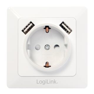 Unterputz-Steckdose mit 2x USB-Port