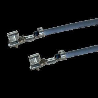 Litze mit zwei Crimpkontakten für JST PH Buchse, UL1571, AWG26, 30cm, grau