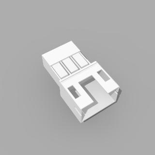 JST PH kompatibles Leergehäuse Stecker 3 polig