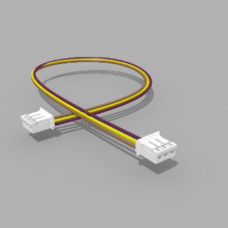 Kabel mit 2 JST Buchsen PH 3 polig 30 cm 26 AWG - RM 2,00 mm