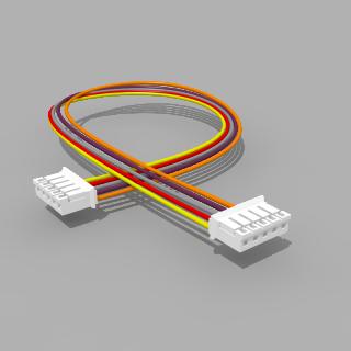 Kabel mit 2 JST Buchsen PH 5 polig 30 cm 26 AWG - RM 2,00 mm