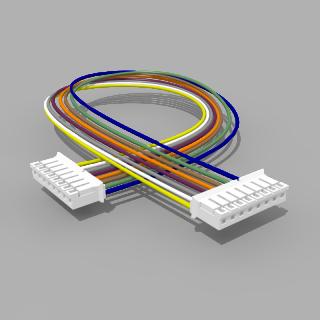 Kabel mit 2 JST Buchsen PH 8 polig 30 cm 26 AWG - RM 2,00 mm