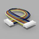 Kabel mit 2 JST Buchsen PH 9 polig 30 cm 26 AWG - RM 2,00 mm