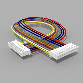 Kabel mit 2 JST Buchsen PH 10 polig 30 cm 26 AWG - RM 2,00 mm