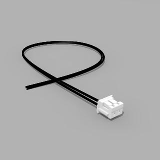 JST Buchse ZH 2 polig mit 20 cm Kabel 24 AWG - RM 1,50 mm