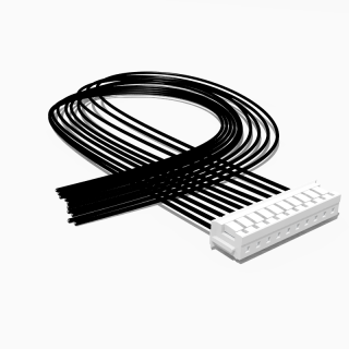 JST Buchse ZH 10 polig mit 20 cm Kabel 24 AWG - RM 1,50 mm