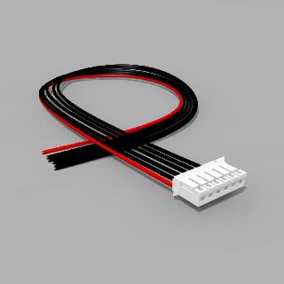 JST Buchse PH 6 polig mit 40 cm Kabel 20 AWG - RM 2,00 mm