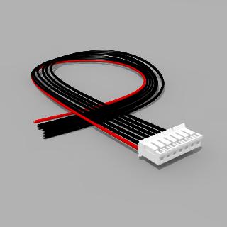 JST Buchse PH 7 polig mit 40 cm Kabel 20 AWG - RM 2,00 mm