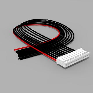 JST Buchse PH 10 polig mit 40 cm Kabel 20 AWG - RM 2,00 mm