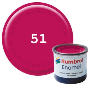 Humbrol 51 Enamel Farbe 14 ml Metallic