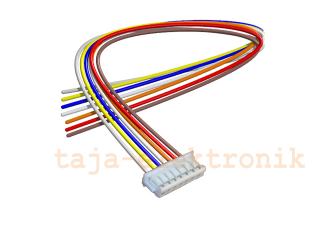 JST Buchse ZH 7 polig mit 20 cm Kabel 30 AWG - RM 1,50 mm