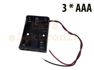 Batteriehalter 3xAAA mit Kabelanschluß