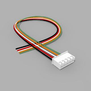 JST Buchse XH 5 polig mit 30 cm Kabel 28 AWG - RM 2,50 mm