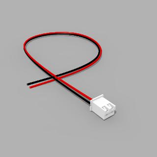 JST Buchse XH 2 polig mit 30 cm Kabel 28 AWG SR - RM 2,50 mm